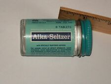 Vintage-Glass-Medicine-Bottle-Miles-ALKA-SELTZER-Tablets-Full
