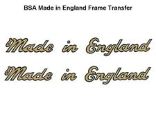 BSA Frame Transfers (Pair) Made in England A10 A7 B31 C10 D1 M20 B33 B31 C15 B40