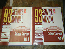 1993 OLDSMOBILE CUTLASS SUPREME FACTORY SERVICE MANUAL SHOP REPAIR 2 VOLUMES
