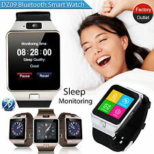 BLUETOOTH SMART WATCH PHONE FOTOCAMERA SIM CARD per Android IOS NUOVO TELEFONO