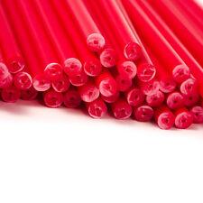 x50 150mm x 4.5mm Rouge Coloré Plastique Sucette Gâteau Pop Bâtons Artisanats