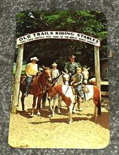 Old Trails Horse Riding Stables, Hart Michigan Vintage Postcard