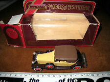1984 MATCHBOX Y-15 1930 PACKARD VICTORIA 1:46 LESNEY 1969 BOXED MODELS a1uw