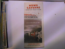 ancienne carte routiere usa howe caverns road map