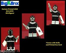 BULLSEYE Marvel Custom Printed LEGO Minifigure with ACE CARD & KNIFE NO DECALS
