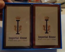 "2 NOS Imperial House ""Where every guest is King"" Deck Of Playing Cards Free S/H"