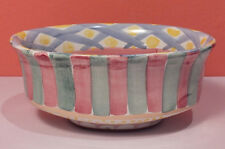 MacKenzie Childs AALSMEER Open Chowder Bowl PERFECT Oval Serving NEW Taylor 1983
