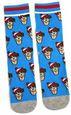 LADIES WHERE'S WALLY BUNCH OF WALLYS BLUE SOCKS UK 4-8 EUR 37-42 USA 6-10