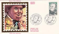 """Enveloppe 1er Jour NEVERS 24/01/1987 Raoul Follereau """"Père des lépreux"""""""