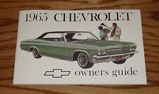 1965 Chevrolet Owners Operators Manual 65 Chevy Impala Caprice Bel Air