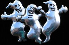 PEWTER HALLOWEEN GRAVE RIP SITE SPOOKY FLYING GHOST GHOSTS FAMILY PIN BROOCH