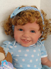 "Reborn 22"" Toddler Girl Doll ""Sissy -Pretty in Blue""- w. rag doll"
