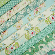 Tilda Spring Lake Teal Fabric Scrap Pack / quilting duck egg blue dot spot bird