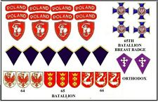 1:6 WWII Free Polish 1st Warsaw Armored Division insignia set 2 Dragon and Other
