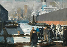 Images of America: George Bellows: Men of the Docks, 1912 - Fine Art Print