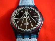 SOLAR SWATCH GENT HAPPY BLUE - SRN100 - 1995 - NEW NUOVO VERY RARE