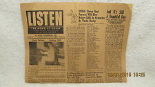 1953 Newspaper Listen The News of Radio WGBF Evansville IN W/Dave Pellow Photo