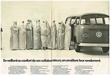 Publicité Advertising 1972 (2 pages) VW Volkswagen Camionnette minibus