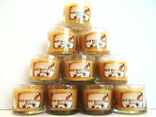 Bath Body Works HOT BUTTERED RUM candles, glass, Mini, 1.3 oz., NEW x 10
