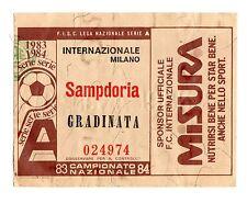 CALCIO   BIGLIETTO  TICKET   INTER    SAMPDORIA    CAMPIONATO   1983/84