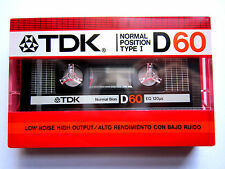 CASSETTE TAPE BLANK SEALED - 1x (one) TDK D 60 [1985] made in Japan/assambl. USA