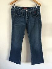 "Baby Phat Designer Jeans 32-34"" Waist Stretchy Mid Blue  R5952"