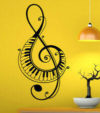 Music Wall Decal Vinyl Sticker Music Notes Treble Clef Interior Art Decor (44mu)