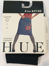 HUE Hipster Opaque Tights in Black - Size 1