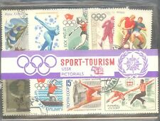 SPORT TOURISM USSR PICTORIALS 50 DIFFERENT THEMATIC STAMPS CTO