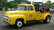 Old Photo. Yellow 1956 Ford Triple A Tow Truck