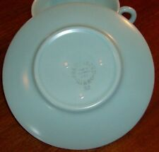 """Franciscan China El Patio-Turquoise-Matte Saucer Only 5 3/4""""  Mint"""