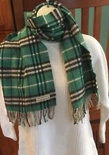 Burberry Scarf Lambswool Green Turquoise 11X51