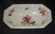 "Rosenthal China Germany FLOWERS Relish Tray 10"" x 5"" Maria Border"