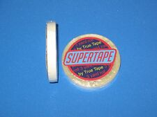 "SuperTape 1/4"" x 3 Yard Roll Tape Adhesive on white lined core ~ Hair Extensions"