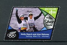 New Zealand NZ 2016 MNH Rio Silver Medal Molly Meech Sailing 1v Olympics Stamps