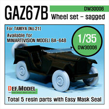 DEF.MODEL, WWII GAZ67B Russian Field Car Wheel set (for Tamiya), DW30006