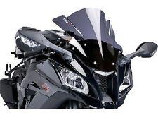 Puig Racing Windscreen for 2012-2015 Kawasaki EX650 Ninja 650 Black / 5998N