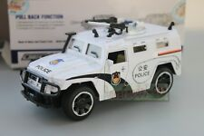 1/32 military armored SUV Police pull back car Toy Metal Diecast white