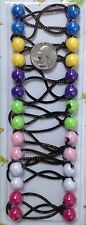 pink purple green Knocker elastic Scrunchies hair girl Balls Ponytail Holder
