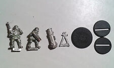 40K Imperial Guard- 1x Cadian Mortar Team. Classic metal. OOP