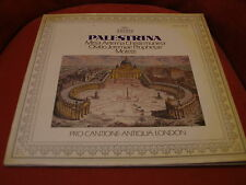PRO CANTIONE ANTIQUA LONDON Palestrina LP 10 track ARCHIV gatefold  1976
