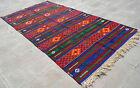 """Anatolia Turkish Kilim 70"""" x 131"""" Hand Woven Wool Vintage Jajim Rug 179 x 334 cm"""