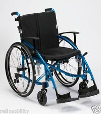 Enigma Spirit Lightweight Aluminium Folding Self Propelled Wheelchair Blue