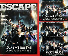 JAMES McAVOY X-MEN APOCALYPSE FILM POSTCARDS & ESCAPE CINEMA MAGAZINE