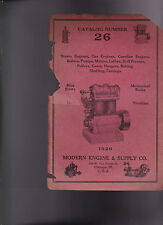 Modern Engine & Supply Co Catalog #26 Boilers Pumps Motors Lathes Drill Presses