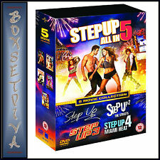 STEP UP - 1 2 3 4 & 5 - 5 MOVIE COLLECTION  **BRAND NEW DVD BOXSET***