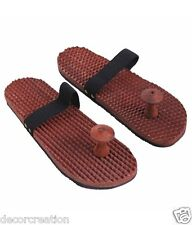 Wooden Feet Relaxing Acupressure Slippers Khadau Foot Massager Unisex 50% off
