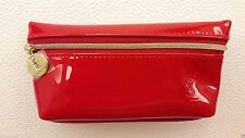 YSL Yves Saint Laurent beauty beaute Small Cosmetic makeup Bag Pouch Glossy Red