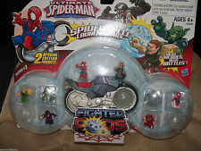 Marvel Ultimate Spider-Man Fighter Pods Spider Cycle Launcher Pack NEW LAST ONE