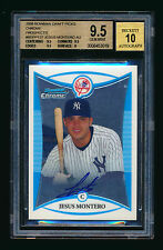2008 BOWMAN CHROME DRAFT JESUS MONTERO RC AUTOGRAPH BGS 9.5 GEM MINT 10 AUTO